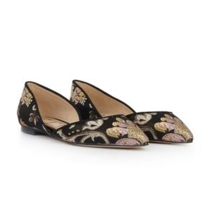 Sam Edelman Rodney Flats 8 Black D'Orsay Shoes
